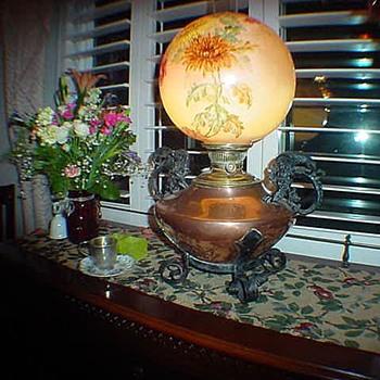 Copper Rayco oil lamp - Lamps