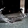 """COFRAC"" Art Verrier France 15"" Wave Form Crystal Bowl/Signed /Circa 20th Century"