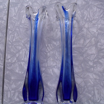 Rossini blue glass. - Art Glass
