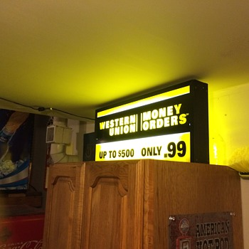 Western Union Money Order Sign - Advertising