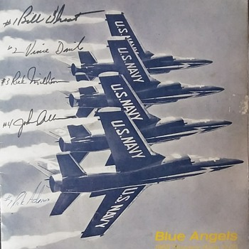 U.S. Navy Blue Angels Autographed Programs - Paper