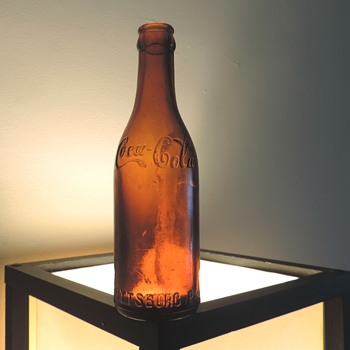 Antique Coca-Cola Coke Pittsburg Soda Bottle Straight Sided Embossed D.O.C. - Coca-Cola