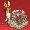 Antique Cold Painted Hare Inkwell