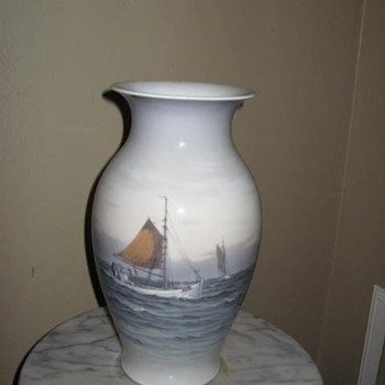 Sail boat vase I acquired at a tag sale