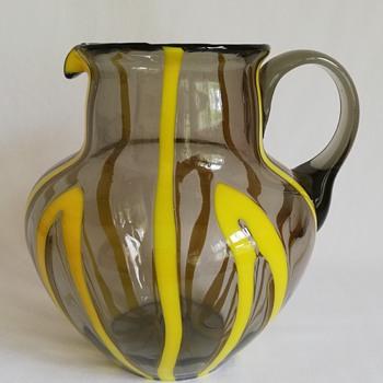 Kralik Bambus Jug with Lid.  - Art Glass