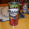 1964 tin welchade grape fred and wilma flintstone juice container