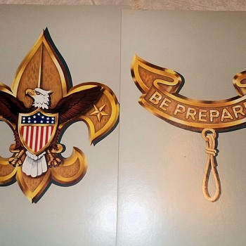 Saturday Evening Scout Post Boy Scout Insignia Poster Set - Sporting Goods