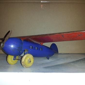 Wyandotte Lockheed Vega Tin Plane - Toys