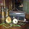 binocculars/war box/meter with leather case etc