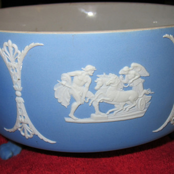 Wedgwood Blue Jasper Dip Footed Bowl (Pre 1900's)