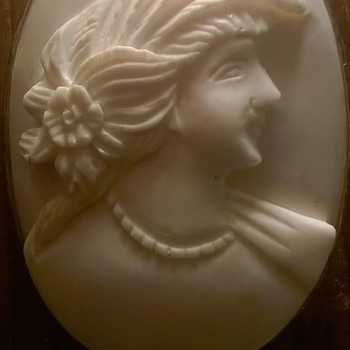 Ivory Cameo Pendant/Brooch In Silver Gilt Mount  - Fine Jewelry