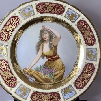 Royal Vienna portrait plate  - China and Dinnerware