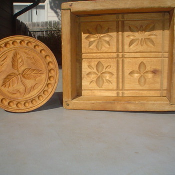 wood butter mold and a stamp - Kitchen