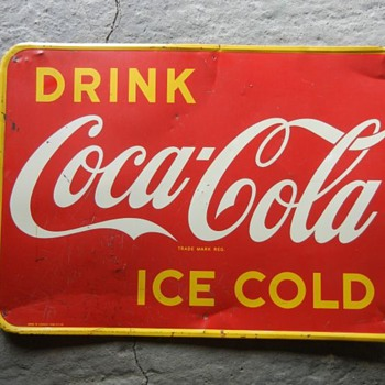 1948 Tin Coca Cola sign Canada