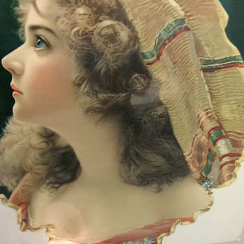 Antique Advertisement Cutout with Woman (Made in Germany)
