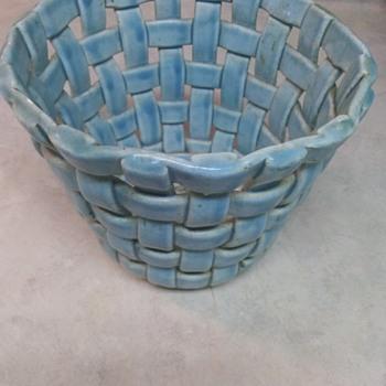BASKET WEAVE POTTERY  - Pottery