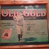 Babe Ruth Old Gold Cigarette Cardboard Sign