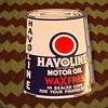 1934 Havoline Doubled Sided ,Flanged Mounted ,Porcelean Sign.