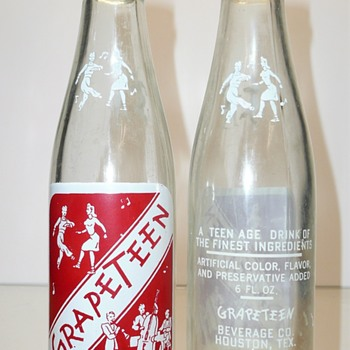 Grapeteen Soda Bottles - Bottles