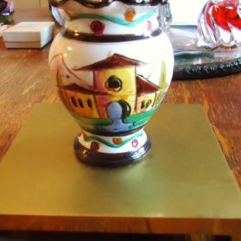 Vase 3 1/2 inches!  Italy,  Toli?  maybe Mario from Nove Italy - Pottery