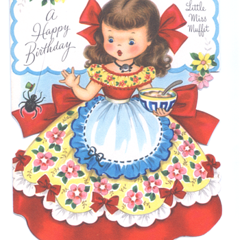 Little Miss Muffet | Fairfield Birthday Story Card