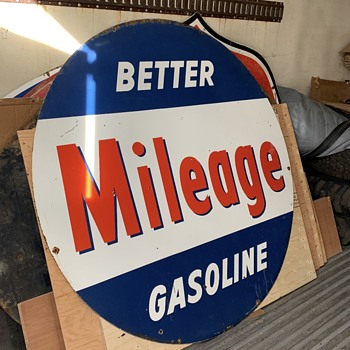 Better Mileage Porcelain Sign - Signs