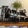 Solid Iron Train Sculpture