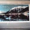 "Trevor Davis Signed Tinted Photographic Print / ""Harbor Lights"" Juneau, Alaska 1942 /Circa 1977"