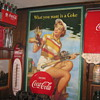 1953  Coca Cola fishing girl  29 wide  by 48 Long