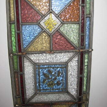 old stained glass panels