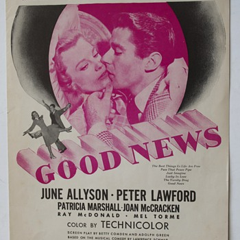 "Sheet Music from the Motion picture ""Good News""…""The Best Things in Life Are Free"" - Music Memorabilia"