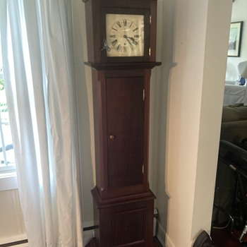 1930's era Gustav Becker/ long case-marriage clock FINAL - Clocks