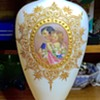 Antique European or Russian Painted Glass Vase
