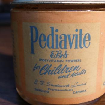 Pediavite small jar - Advertising