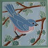 "4.25"" bird ceramic art tiles from American Encaustic, Zanesville, Ohio"
