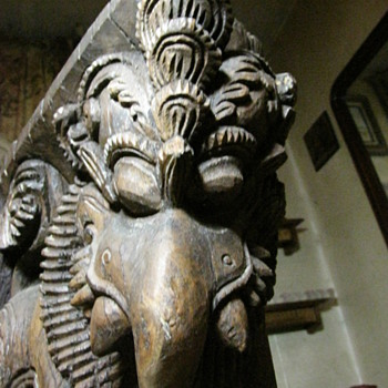 Elephant~ Wood Carving~ Very Old.