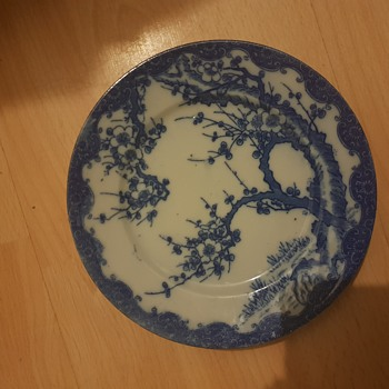 Blue plate Chinese antique  - Asian