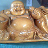 Wood Buddah cone Incense Burner