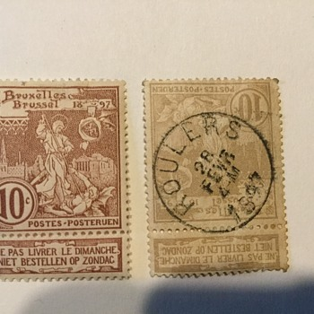 1896 Belgium stamp error help - Stamps