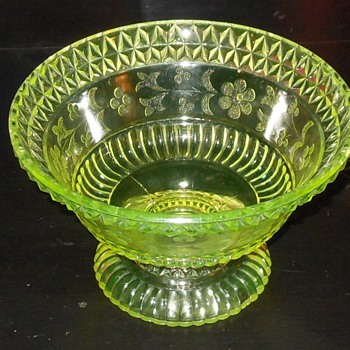 Vaseline Glass Bowl - Glassware