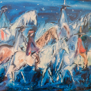 Ted DeGrazia Navajo Night Chant Lithography - Fine Art