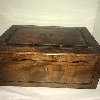 Antique Victorian inlay sewing box? - Victorian Era