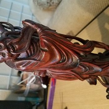 Chinese Wood Carving - A Swap Meet Find