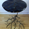 Kevin Kuhnel Folk Art / Art Nouveau Style Lilly Pad Occasional Table