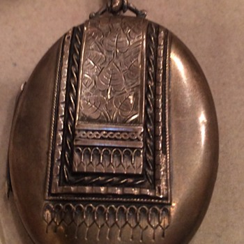 English Silver Locket - Silver