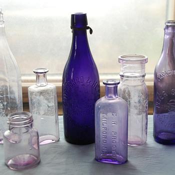 Old Amethyst Colored Bottles - Bottles