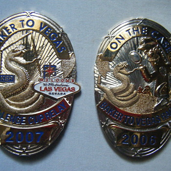 BAKER TO VEGAS 2006/2007 RACE CUP RELAY BADGES