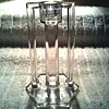 "Westmoreland Clear Glass Candlestick / ""Mission"" Pattern #1015 / Discontinued Circa 1910-1930"
