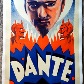 "Original Dante The Magician ""50 Mysteries"" Poster ca. 1935 - Posters and Prints"
