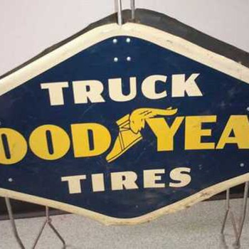 Vintage Good Year Sign approx 1959 - Signs